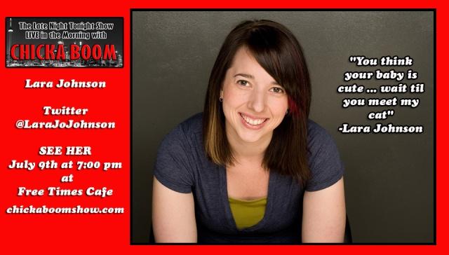 Lara Johnson is on July 9!!